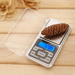 Wholesale Ct Shipping - 500g 0.1g Mini Electronic Digital Pocket Scale Jewelry Weighing Balance Counting Function Blue LCD Display g oz lb kg tl ct  Free Shipping