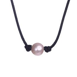 Collier initial de perles en Ligne-Véritable collier de perles Collier initial Harajuk Grand cordon en cuir Collier Collier Cou Velours Corde Punk Vente Chaude