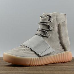 Wholesale basketball loop - Adidas Originals yeezy 750 Boost Casual Sneakers men women Basketball shoes Black Grey Brown Discount Running Shoes US 5-11.5