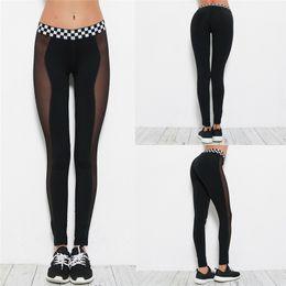 6a34ffef36a 2018 Moda Mujer Leggings Women Sports Gym Yoga Workout Mid Waist Running  Pants Fitness Elastic Leggings Plus Size Feminino