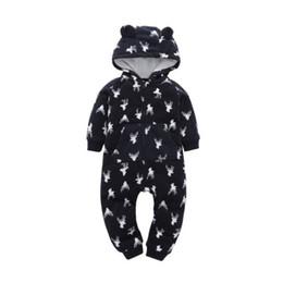 2019 esmoquin de 18 meses Recién nacido niño bebé niño niña ropa con capucha ropa de navidad mono mameluco manga larga cálido otoño invierno traje chico 0-24 m