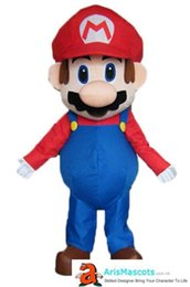 Wholesale mascot costumes for sale - deluxe mario bro mascot costume for birthday party cartoon character mascot costumes sale professional mascots at arismascots mascotte