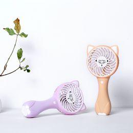 Wholesale Electric Cartoon Fans - Cartoon Fox Mini Fan Handheld USB Rechargeable Fan 3 Speeds Adjustable Electric Cooling Fan for Office Outdoor Travel