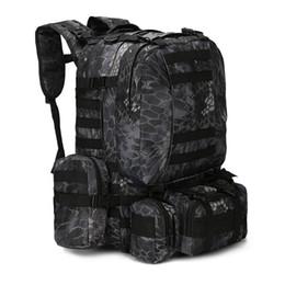 Équipement de camouflage en Ligne-MOLLE Tactical Backpacks Gear Imperméable à l'eau 1000D Assaut Voyage en plein air Randonnée Sport amy Sacs à dos Chasse Multi-fonction Sac shopping gratuit