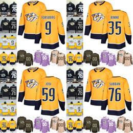 16be7611e 2019 Nashville Predators mens womens youth 59 Roman Josi 9 Filip Forsberg  35 Pekka Rinne 76 P.K. Subban Hockey Jerseys Stitched S-3XL