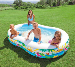 Wholesale Intex Pools - INTEX 56490 bicyclic eight-shaped pool inflatable pool family swimming thickened paddling size 262 * 160 * 46CM