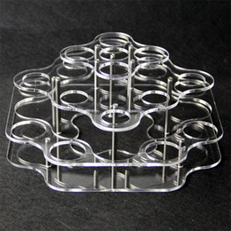 Wholesale Display Show Glass - Acrylic display clear stand shelf holder vape rack show case for 21pcs 30ml 60ml chubby plastic glass bottles e liquid eJuice bottle DHL