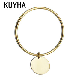 Wholesale Customizable Jewelry - whole saleFashion Bracelet Customizable Bracelet & Bangle Personal Logo Name Round Charm Pendant Gold France Style Jewelry