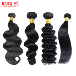 Wholesale raw weft - 8A Wholesale Brazilian Virgin Hair Bundles Straight Body Wave Loose Wave Deep Wave Peruvian Malaysian Raw Indian Human Hair Weave Extensions
