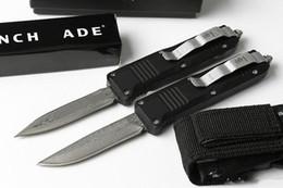 Doppelte tasche online-Schmetterling BMautoTF 7inch C07 Damaskus Tropfen D / E Klinge Dual Action Jagd automatische Taschenmesser Survival Messer Weihnachtsgeschenk für Männer