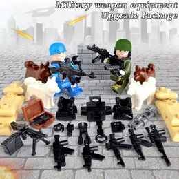 Wholesale Armor Series - Military Weapons Series Minifigs Dedicated of Military Weapons Package Pistol Piles Dogs Body Armor JZ1601A Mini Building blocks Figures