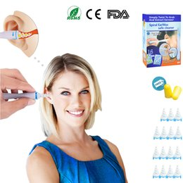 Wholesale earwax cleaner - Ear Wax Remover Cleaner Kit with 16 Replacement Heads, Ear Pick Spiral Earwax Removal+ Bonus Noise Reduction Ear plugs Ship from US