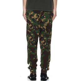 trousers military women Promo Codes - 18SS 0W Tooling Military Camouflage Trousers Retro Street Trousers Cotton Casual Loose Men Women Couples Pants HFSSKZ008