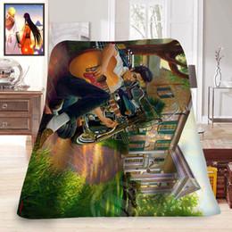 décorations elvis Promotion F315 Elvis Presley de la vie quotidienne Personnalisé Décoration de la maison Fournitures Chambre Couverture Polaire Douce LFU139