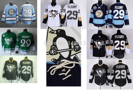 Wholesale Penguin Classics - Factory Outlet, Mens Pittsburgh Penguins Jersey #29 Andre Fleury Black White winter classic CCM Stitched Jerseys Embroidery Logos