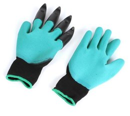 Wholesale household appliances - New Gardening Gloves for Garden Digging Planting Garden Genie Gloves with 4 ABS Plastic Claws