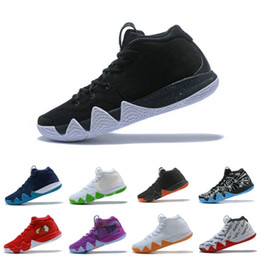 Wholesale blade spring - Top 4 mens Trainer Basketball Shoes Classic Black White Blade design Breathable Athletics Discount Sneakers Size 40-46