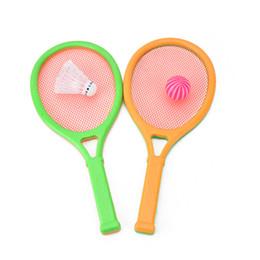 2019 raqueta de plástico Niños Puzzle Raqueta de tenis Badminton Discreteness Unisex Plastic Sports Student Gift rebajas raqueta de plástico