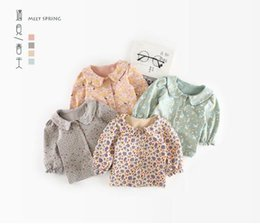 Wholesale Green Day Baby - 2018 INS NEW ARRIVAL Girls Kids shirt long Sleeve pet pan collar animals flower print shirts kid baby cool casual blouse & shirt 4 colors