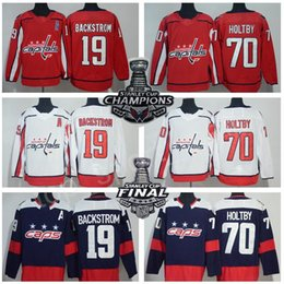 Men Washington Capitals Hockey 19 Nicklas Backstrom Jerseys 70 Braden  Holtby Stadium Series Stanley Cup Champions Final Patch Blue Red White 238fe5c8f