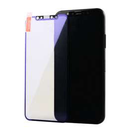 Wholesale Blue Protective Film - New Arrival For iphone 7 plus anti blue light film Carbon Fiber 3D Tempered Glass 6s 7 8 Plus Screen Protector Protective Film