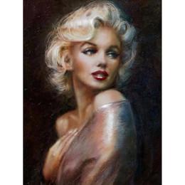 Marilyn Monroe huile diamant peinture Full Paste Carré Point De Croix Home Decoration Peintures carré Diamant Broderie peinture bricolage ? partir de fabricateur