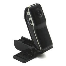 bateria de polímero de lítio de alta capacidade Desconto Cartão de 4 GB TF 240 Mah alta capacidade de bateria de polímero de lítio pequena Mini DV MD80 bolso câmera de vídeo esportes DVR webcam filmadora
