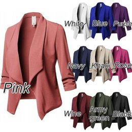 2018 Womens Suit Small Suit Korean Jacket Short Suit Small Suit Body Jacket Ol Work Clothes Black White Blue Purple And Red Suits & Sets Back To Search Resultswomen's Clothing