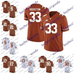 Wholesale Footballs Johnson - NCAA Texas Longhorns 17 Reggie Hemphill-Mapps 33 Lamarr Houston 30 Toneil Carter 9 Collin Johnson College Football Jerseys Stitched
