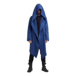 Мужчины готический хип-хоп панк-рок длинные пальто с капюшоном куртка плащ мужчины уличный стиль длинный кардиган пальто ночной клуб DJ сценический костюм от
