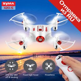 Wholesale Boy S Toys - SYMA Official X20-S Mini Drone RC Helicopter Quadcopter Aircraft Drones Dron 4 Channel Headless Mode Altitude Hold Toys For Boys