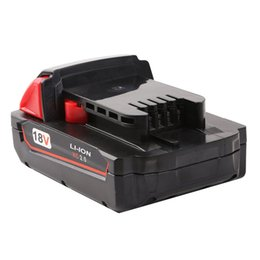 Wholesale 18v Tool Battery - attery replacement High Quality 18V 2000mAh Li-Ion Replacement Rechargeable Power Tool Battery for ilwaukee 18 XC 48-11-1820 M18B2 M18B4 ...