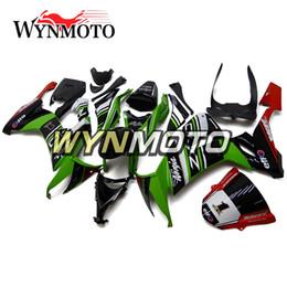 corredo in iniezione Sconti Carenatura per Kawasaki ZX10R 2008 2009 2010 Kit carena completa Carrozzeria ABS Iniezione Nuova alta qualità 2008 2009 Ninja Nero Verde Rosso Carrozzeria