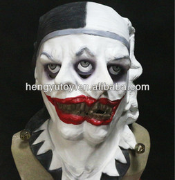 maschere pagliaccio raccapriccianti Sconti Halloween Christmas Party Clown Maschera Masquerade Creepy Bloodcurdling Testa Maschera Carnevale Latex Funnny Clown Man