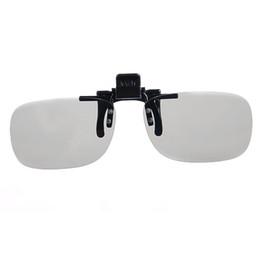 1 пара зажим на типе пассивном круге Поляризовыванные стекла 3D закрепляет для кино 3D TV от Поставщики смотреть очки оптом
