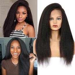 Canada Kinky Straight Lace Front perruque brésilienne vierge de cheveux humains Full Lace Wigs pour les femmes de couleur naturelle cheap brazilian straight kinky full lace wig Offre