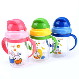 Wholesale Infants Milk - 280ml Brand Baby Feeding Cup Kids Water Milk Cup Soft Sippy Infant Training Baby Feeding Cups for Infant