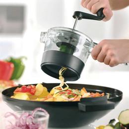 Wholesale hand vegetable shredder - Hand Shredder Kitchenware Spiralfix Gefu Grater Multi Function Slicer Rotate Vegetable Fruit Cutter Tool Sharp Blade 28 5dl V