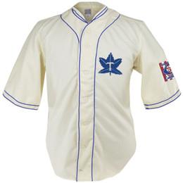 case di foglie di acero Sconti Toronto Maple Leafs 1939 Home Jersey 100% ricamo cucito loghi maglie di baseball vintage personalizzato qualsiasi nome qualsiasi numero di trasporto libero