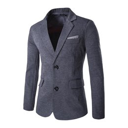 Wholesale Linen Dress Suit - Wholesale- Hot 2016 men's dress. casual suits. Personality of the back stitching. Houndstooth pocket decoration. Stitching suit. Size: