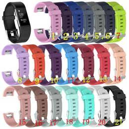 Wholesale fitbit accessories - For Fitbit Charge 2 Wrist bands TPE Straps Wearable Bracelet Band For Charge2 smart accessories Replacement Silicone Bracelet 21 colors