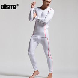 Wholesale Tight Sexy Pajamas - Aismz Winter Warm Thermal Underwear Sexy Men Long John Set Tight Sleepwear Pajamas Sets Pijama Masculino Super Body High Quality