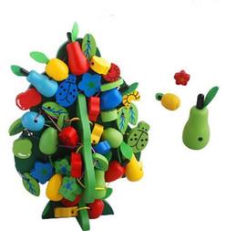 Bébé Enfants Jouets En Bois Coloré Perles De Fruits Cordes Arbres Préscolaire Formation Learining Éducatifs Brinquedos Juguets ? partir de fabricateur