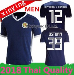 Wholesale Quality Custom Homes - new 2018 Top Thailand Quality Scotland Home REPLICA Soccer JERSEY 18 19 Scotland National Team Football shirts Jersey Custom name and number