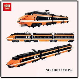 Wholesale Figured Out - IN STOCK lepin 21007 1351Pcs Out of print, the sky train Model Building Kits Figures Blocks Bricks Toys Compatible With 10233