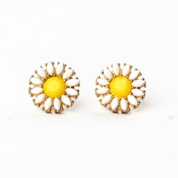 Wholesale Plants Supports - sunflower stud eco-friendly earring for short hair small quantity wholesale support drop shipping and frees hipiing
