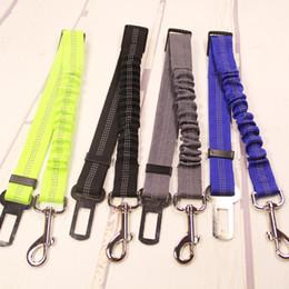 Collares de nylon reflectantes para perros online-Perro de seguridad para mascotas Vehículo Cinturón de seguridad Elástico del cinturón de seguridad para el perro Arnés Correa de plomo Collares de perro Correas T2I207