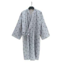 8e02cc6843 Mens cute zebra 100% cotton kimono robes men Spring simple bathrobes long  sleeve SPA casual Japanese robes for male