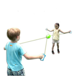 Wholesale hand inflatable - Outdoor Toys Children Gift Hand Parenting Interaction Plastic Improve Reaction Ability Sports Shuttle Pull Ball Hot Sale 4 5cs V