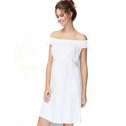 e5e73ca48cd8 Maternity Dress for Pregnant Fashion Maternity Clothes Shoulderless Tube Pregnant  Dress Noble Prom Knee-Length Pregnancy Wedding Vestidos